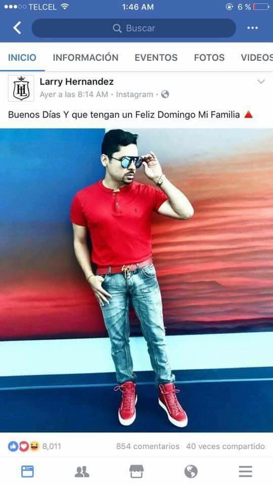 Larry Hernandez arremete contra sus fans en las redes sociales